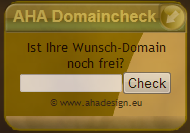 Aha Domaincheck - Modul Frontpage
