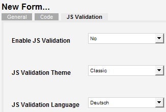 Chrono Forms - JS Validation