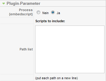 Embed Any Script - Parameter