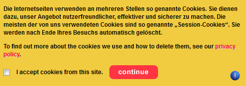 EU Cookie Directive - Frontpage