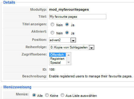 myfavouritepages - Details