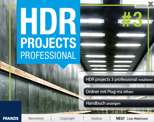 HDR projects 3 professional - Installation