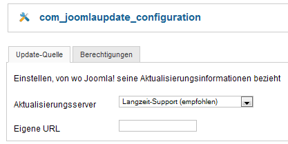 Joomla - Update - Konfiguration