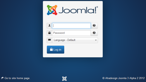 Joomla 3.0 Alpha 2 - Login Fenster