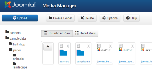 Joomla 3.0 Alpha 2 - Media Manager