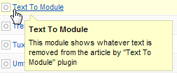 Text To Module