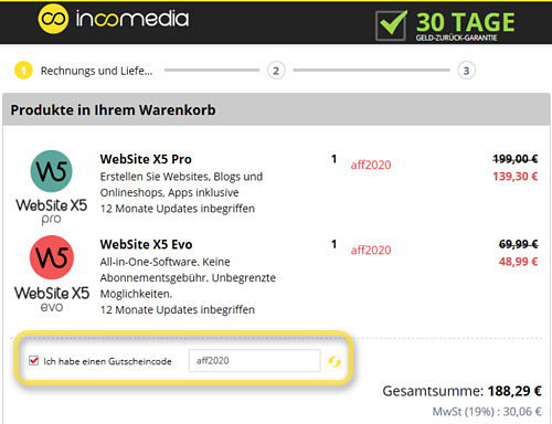 websitex5-warenkorb
