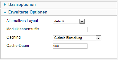 ZF Simple Marquee - Erweiterte Optionen