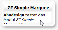 ZF Simple Marquee - Frontpage