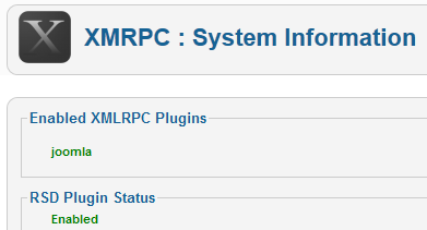 XMRPC - System Information
