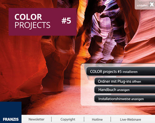 colorprojects5-startfenster