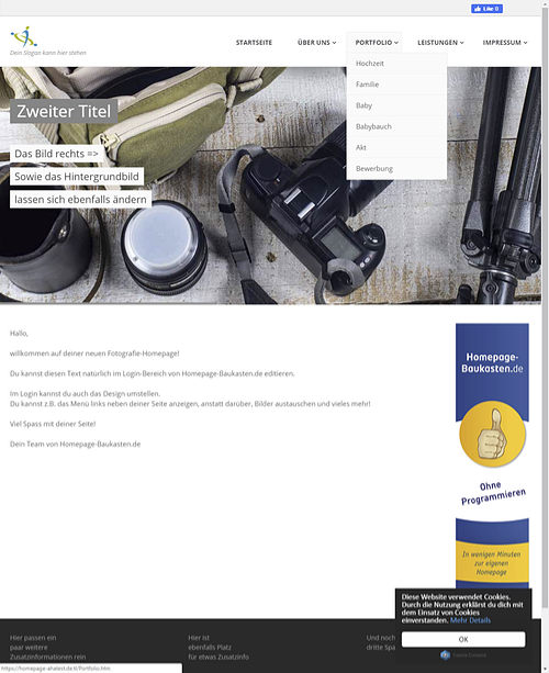 homepage-baukasten-fotografie-website