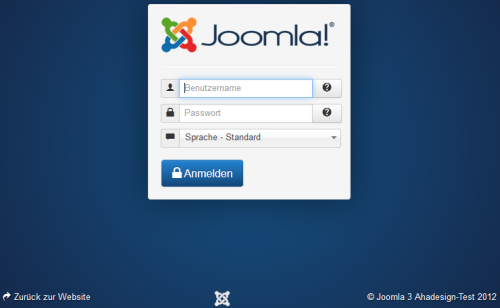 Joomla 3 - Dashboard Login