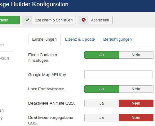 Joomla Theme mit Layout Builder!