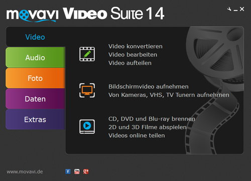 movavi-video-suite-startfenster
