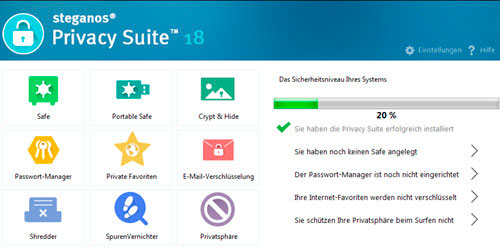 steganos-privacy-suite18-hauptmenue