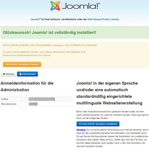 Joomla-Template für Web Design!